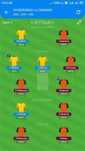 IPL 2020 : Match 29 - SRH vs CSK Fantasy 11 Team & Toss Prediction